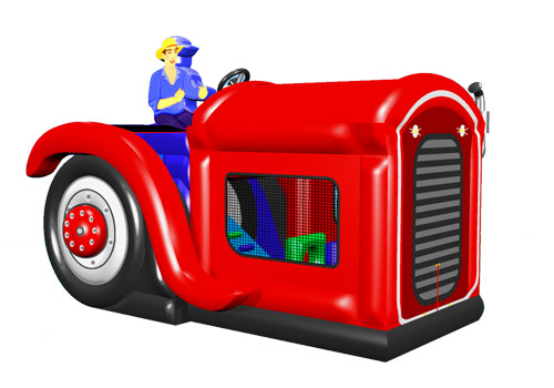 Tractor Bouncy Slide For kids