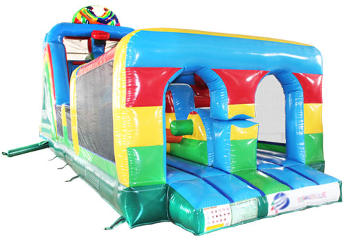 Hand in Hand Bouncy Obstacle Game