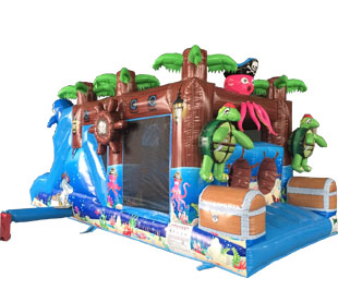 Sea animals inflatable obstacle for kids