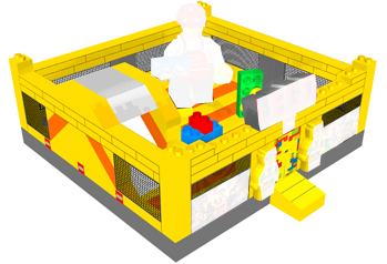 Popular Lego characters air bouncy playground