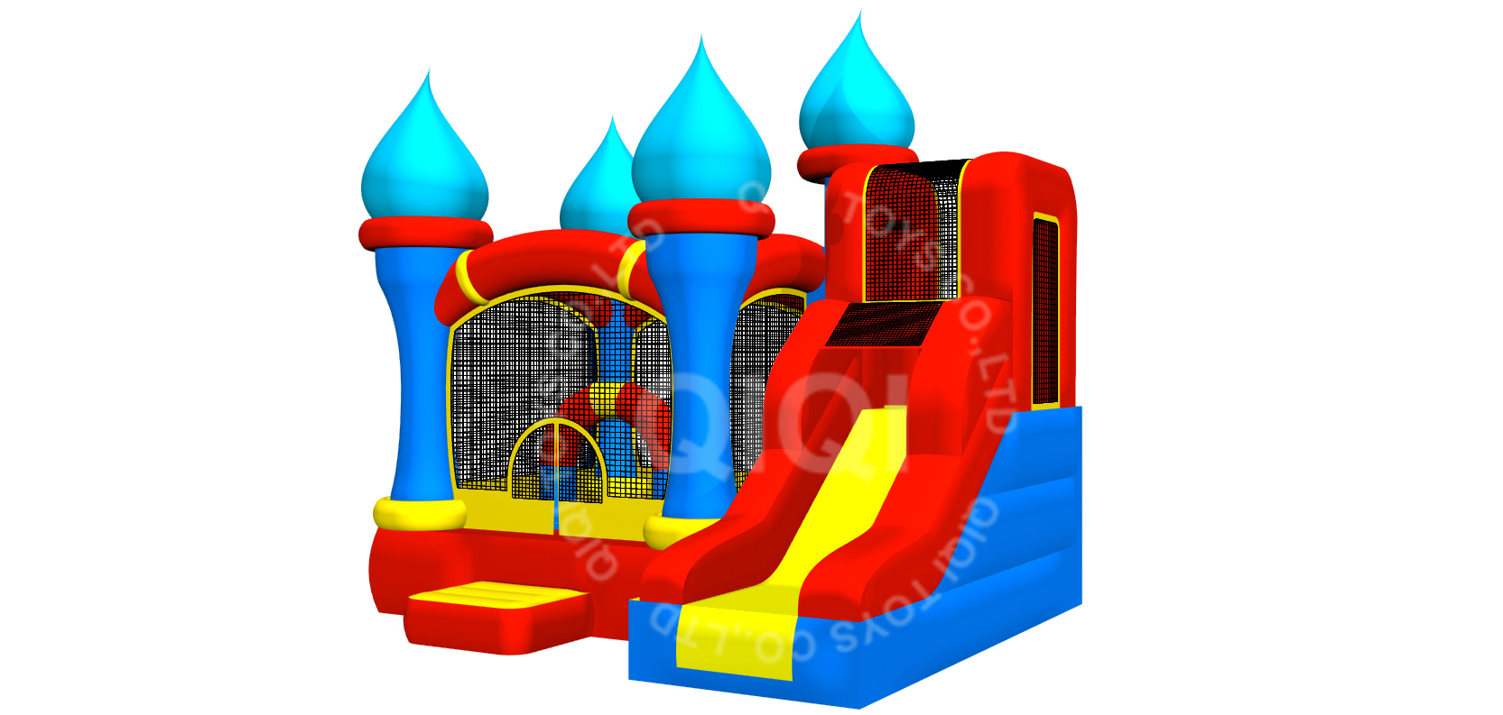 inflatable multiplay house