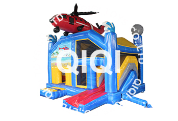 helicopter castle with slide
