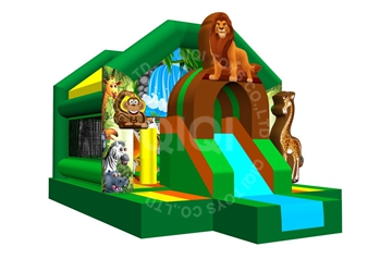 animal bouncer house with slide