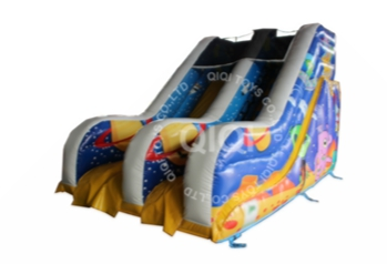 inflatable with double slide