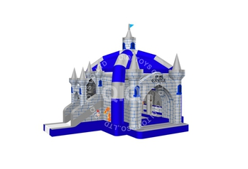 Castle air bounce with slide
