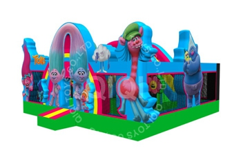 inflatable smurfs playground