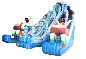Ocean theme inflatable slide Customized animals inflatable