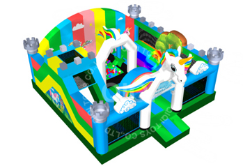 Colorful unicorn with ball pool playground