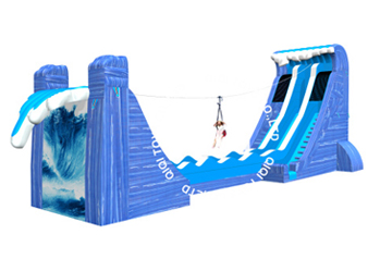 waves theme Zip Line Challenge slide