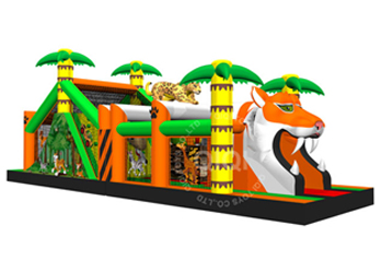 tiger jungle or safari theme obstacles