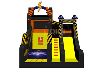 High voltage theme Extreme jumping and slide