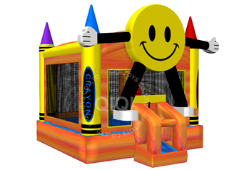 Smile face inflatable bouncer