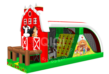 Farm theme popular inflatable obstalce