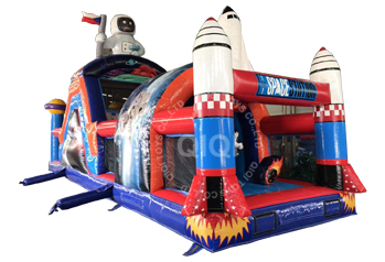 Space themes inflatable obstacle