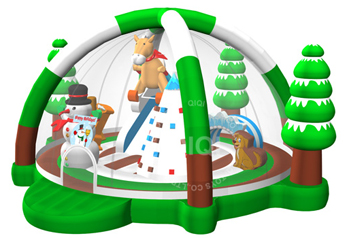 Winter ski theme playground