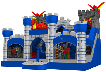 Medieval dragon and  Mysterious castle playground