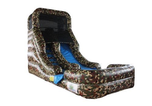 Army Camo Inflatable Kids Slide