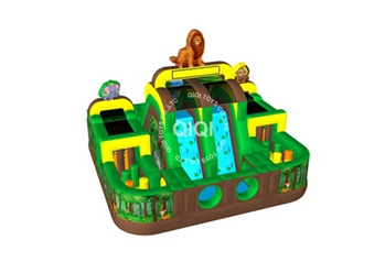 Big jungle inflatable obstacle combo