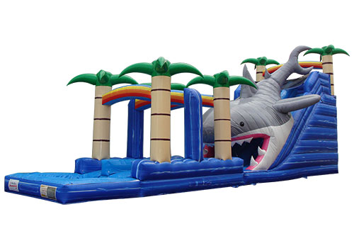 Commercial Shark Inflatable Water Slide