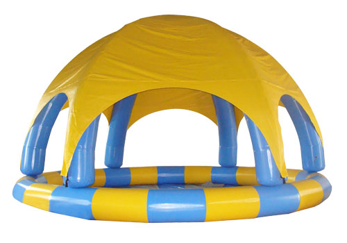 Commercial Inflatable Pool With Tent