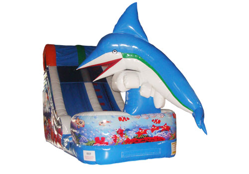Dolphin jumping inflatable water slide