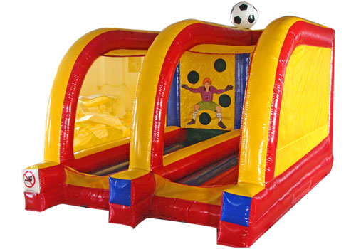 Double Lane Football Toss Inflatable Game