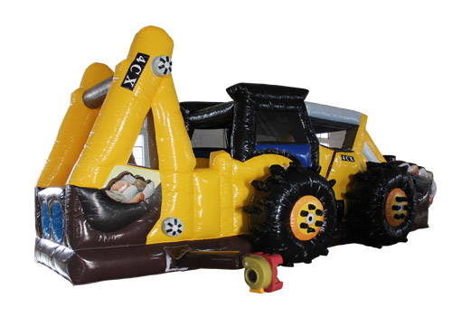 Excavator Commercial Obstacle  Course For Kids