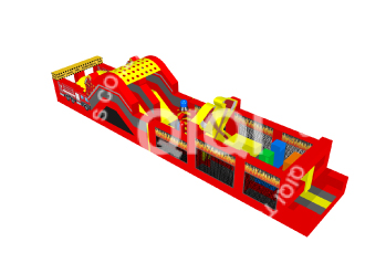 Fire truck inflatable castle jump slide