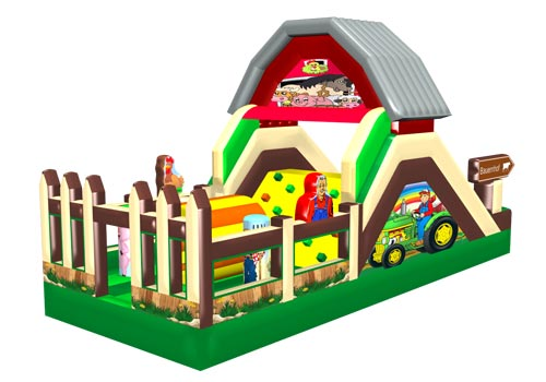 Happy Farm Inflatable Obstacle Course
