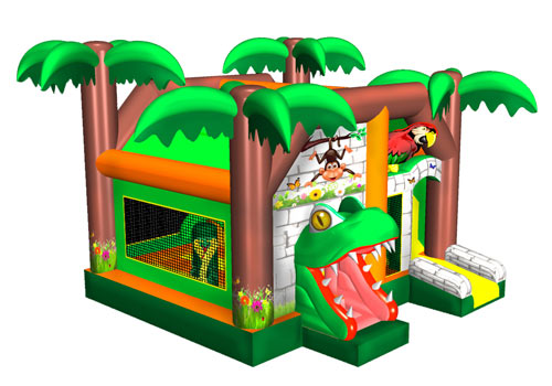 Happy Forest Inflatable Combo Bouncer