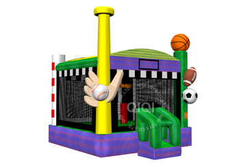 5 in 1 inflatable sport theme bouncer