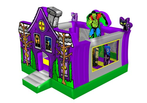 Inflatable Halloween Moon Bounce House