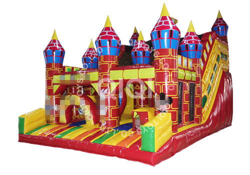 Inflatable Mickey Disney Castle Slide