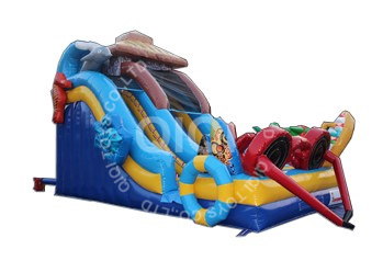 Inflatable beach holiday slide