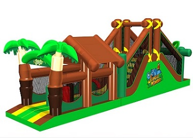 Jungle obstacle castle for sale