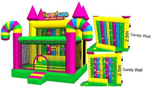 Kids jumper colorful inflatable candy climbing wall
