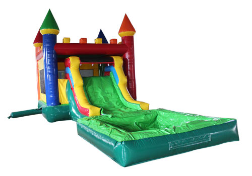 Kids Bouncy Castle Slide With Pool