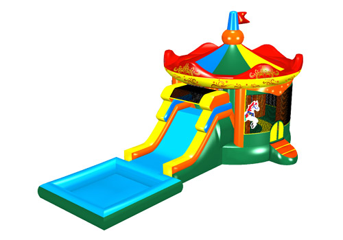 Merry Go Round Bouncy Castle Combo