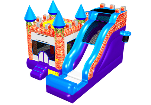Newest Design Bouncy Castle With Slide