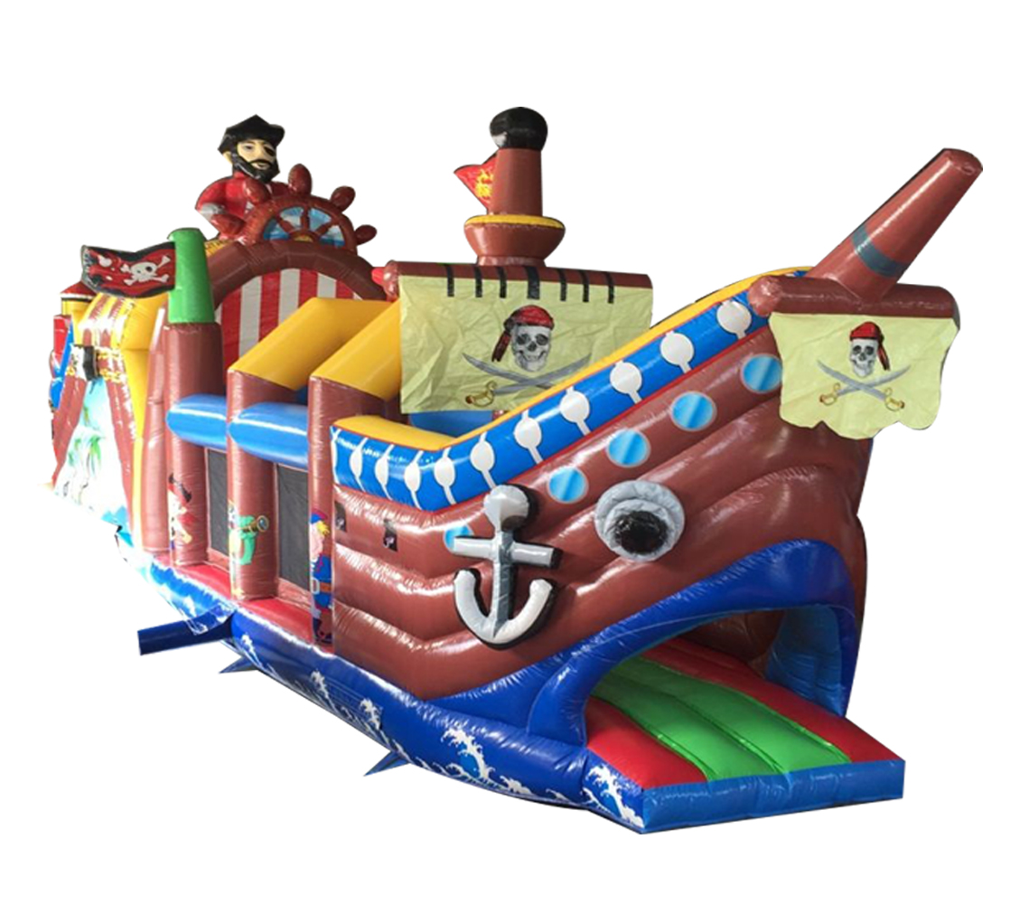 Pirate inflatable obstacle jumping