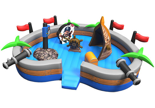 Pirate Island Heart-Shaped Toddler Playground
