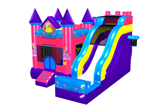 Princess 5 in 1 Inflatable Castle Combo