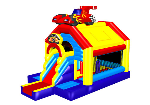 Race Car Bounce House With Slide
