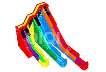 Rainbow inflatable three lines water slide