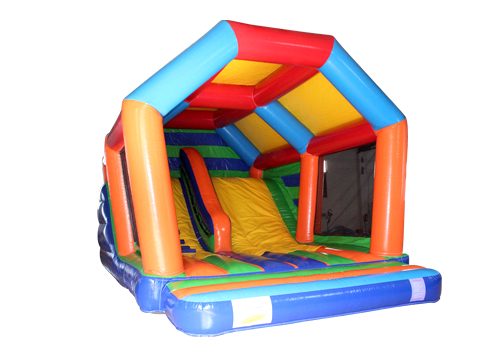 Rainbow Kids Bounce House With Slide