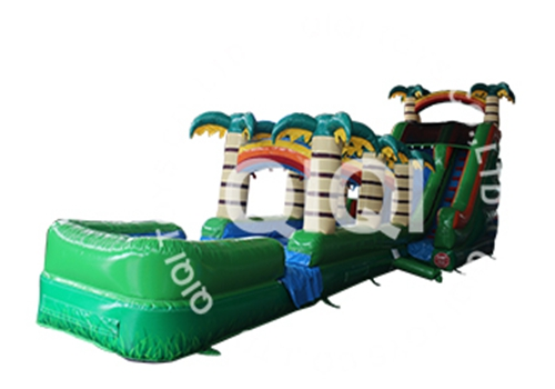 Tropical Rapids Water Slide With Slip