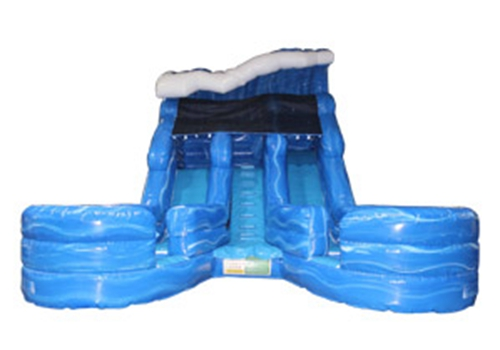 Wave Dual Lane Splash Water Slide
