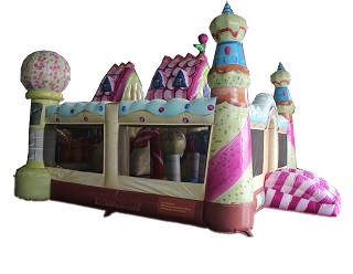 inflatable candy land the kingdom fun park