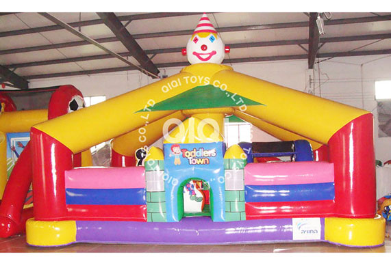 Clown Toddlers Town Inflatable Playground
