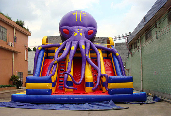 Inflatable Octopus giant 3-lane Slide